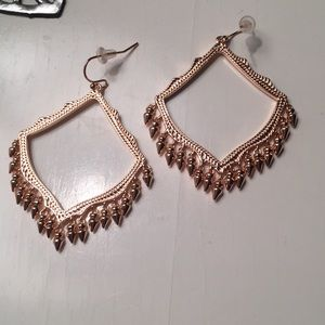 Kendra Scott earrings- rose gold